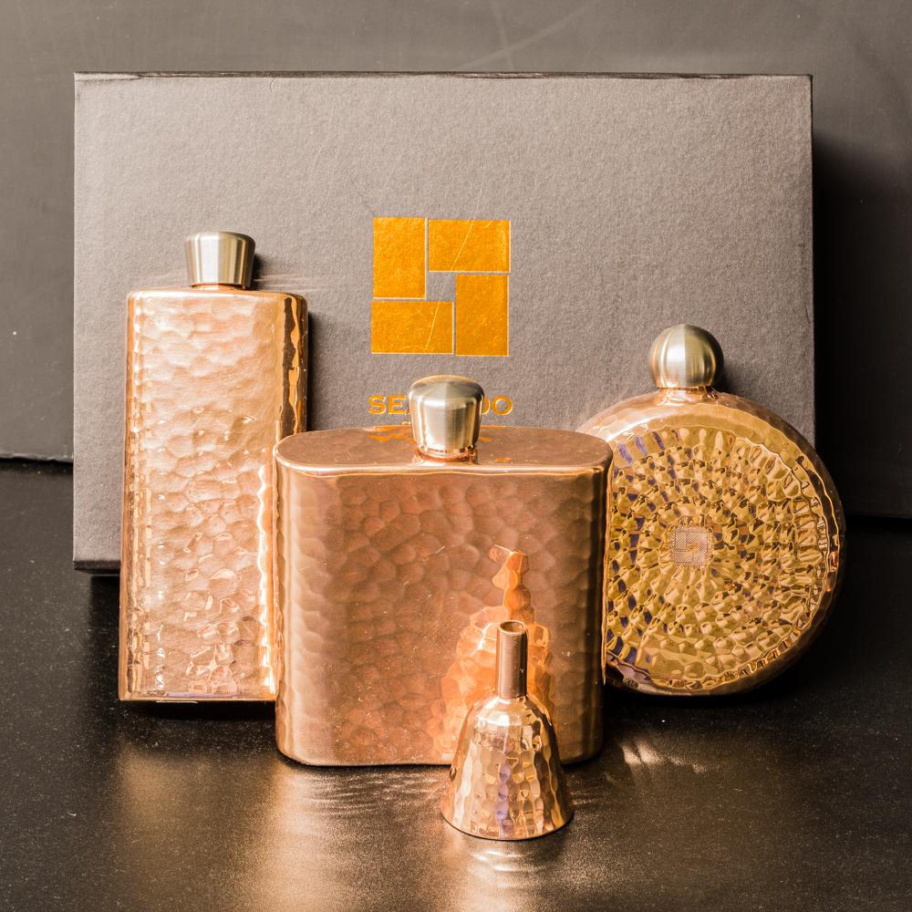 Copper Flask with Spout - Square GA200027