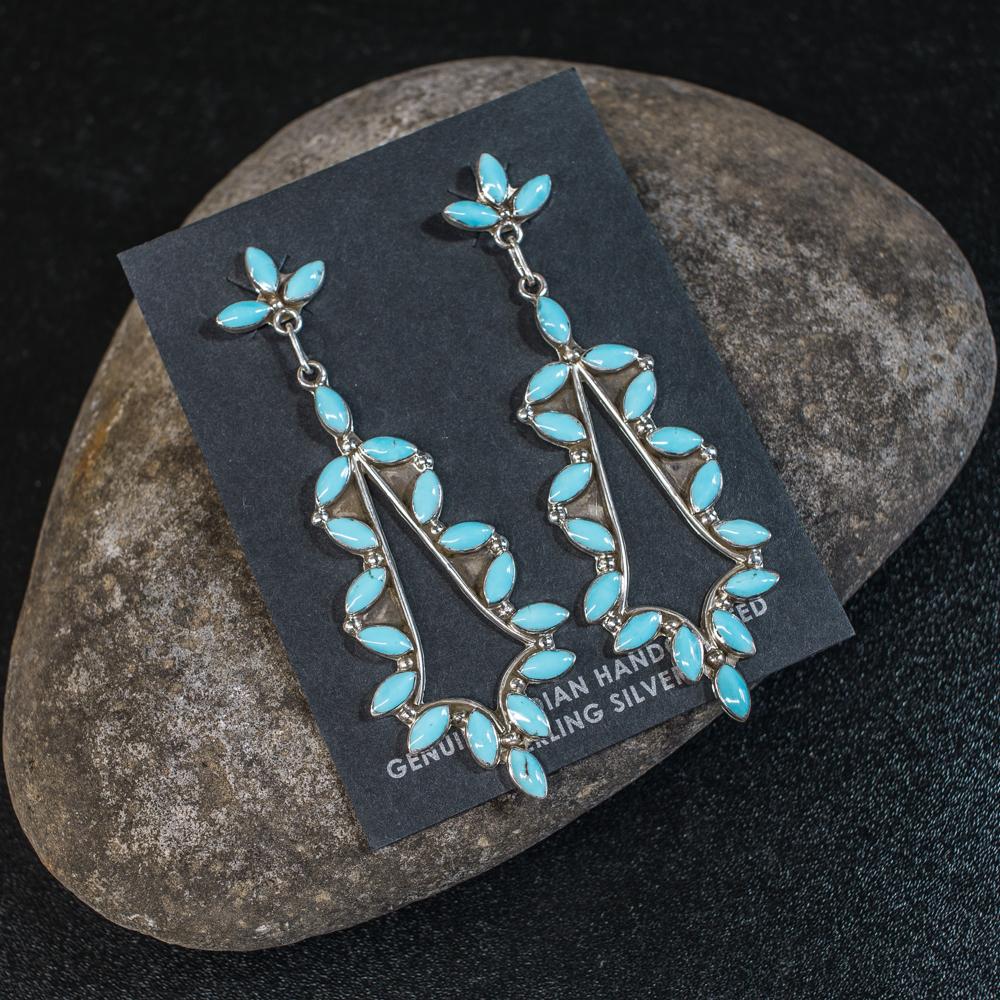 Sleeping Beauty Turquoise Earrings SB200031