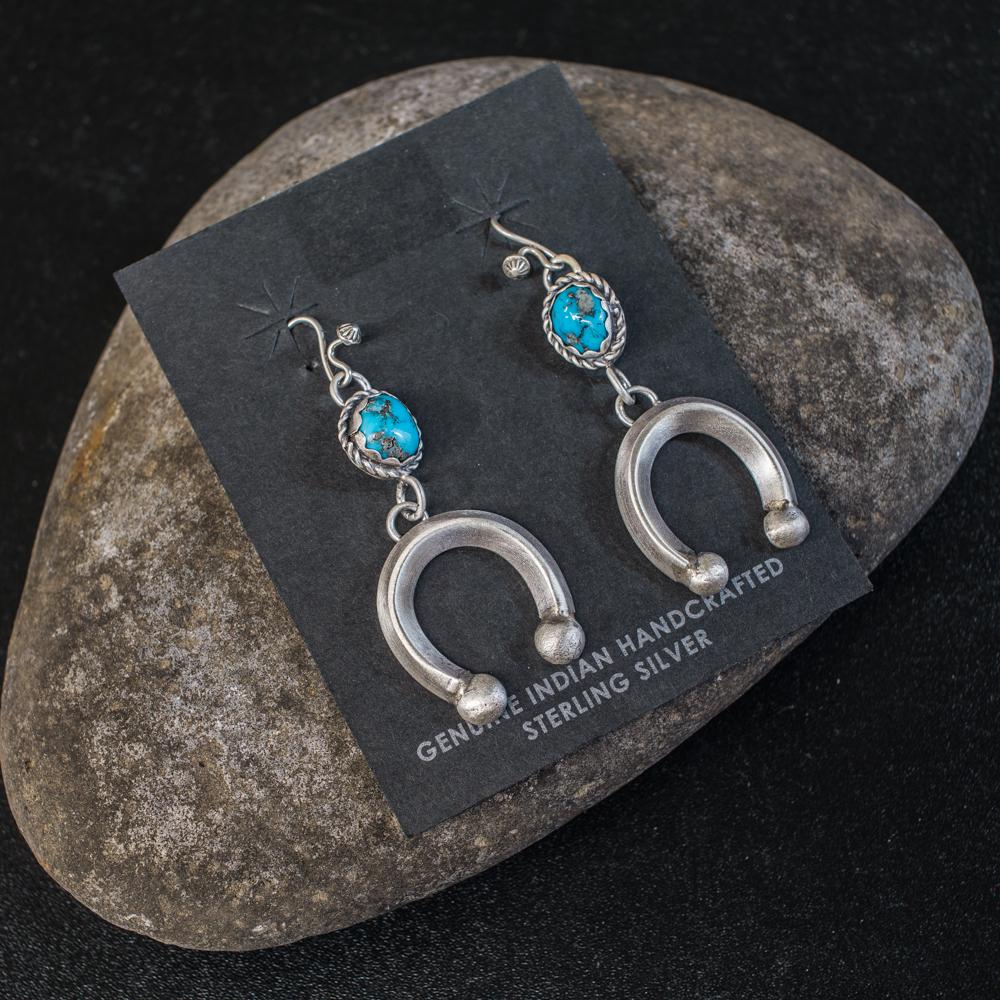 Sleeping Beauty Turquoise Earrings by Andrew Ruiz SB200034