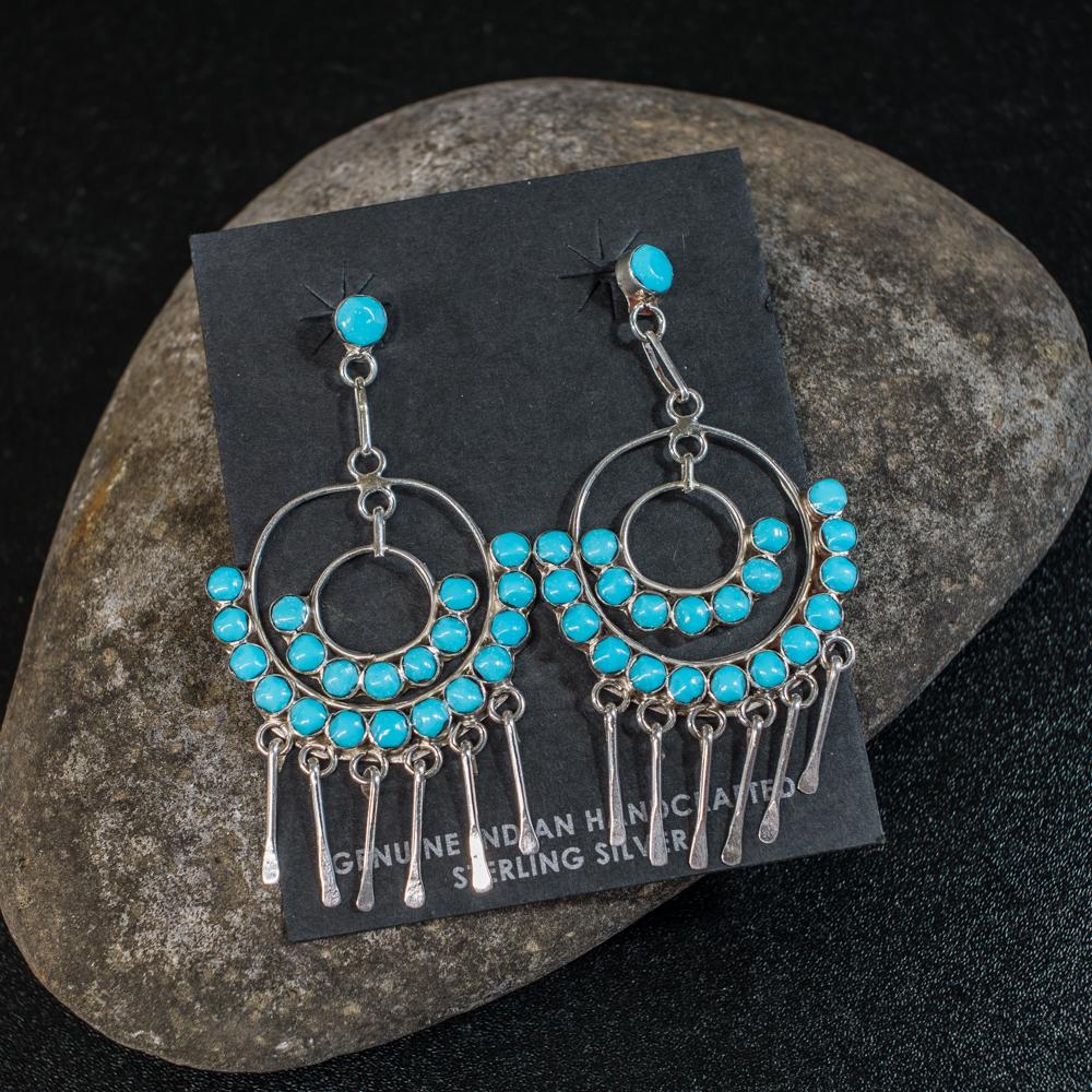 Sleeping Beauty Turquoise Earrings SB200037