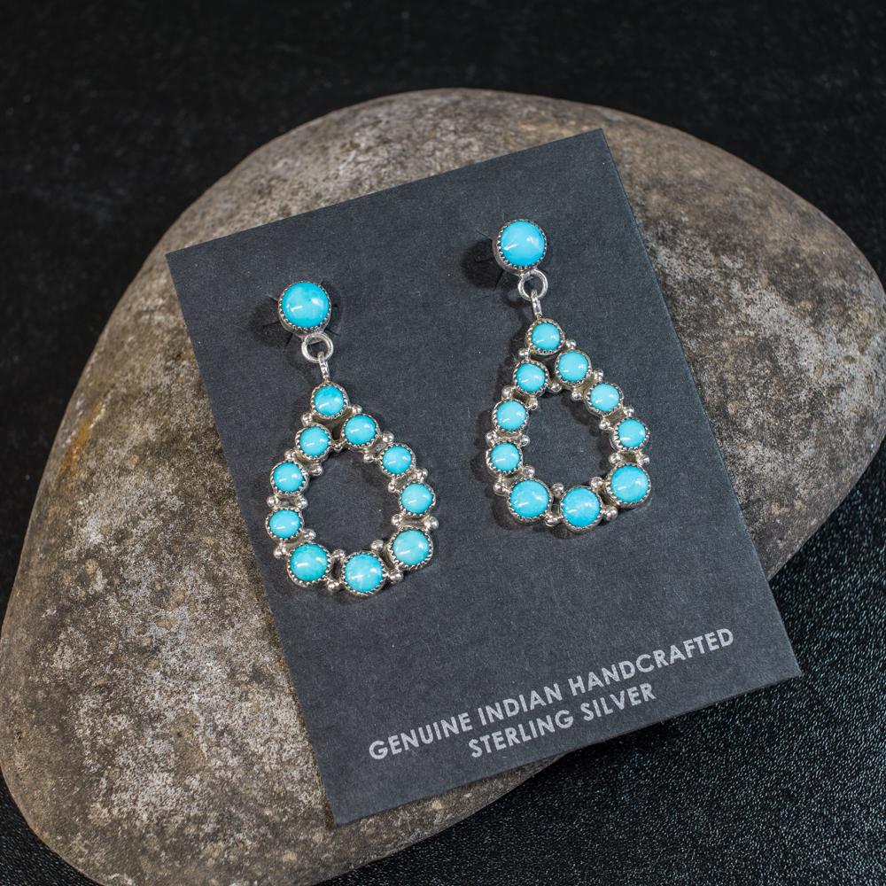 Sleeping Beauty Turquoise Earrings SB200040
