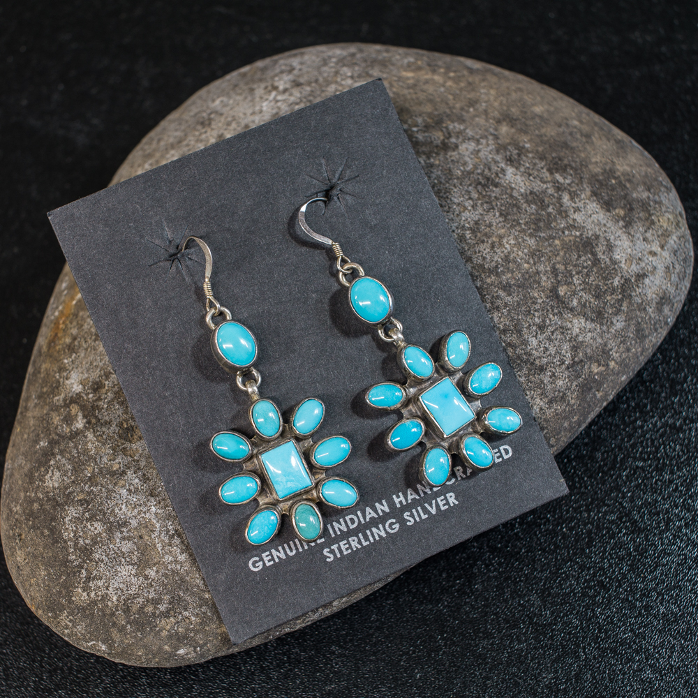Sleeping Beauty Turquoise Earrings SB200041