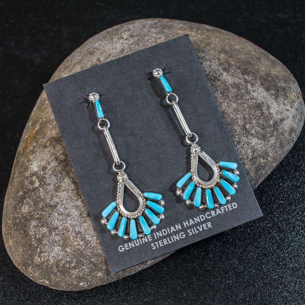 Sleeping Beauty Turquoise Earrings SB200043