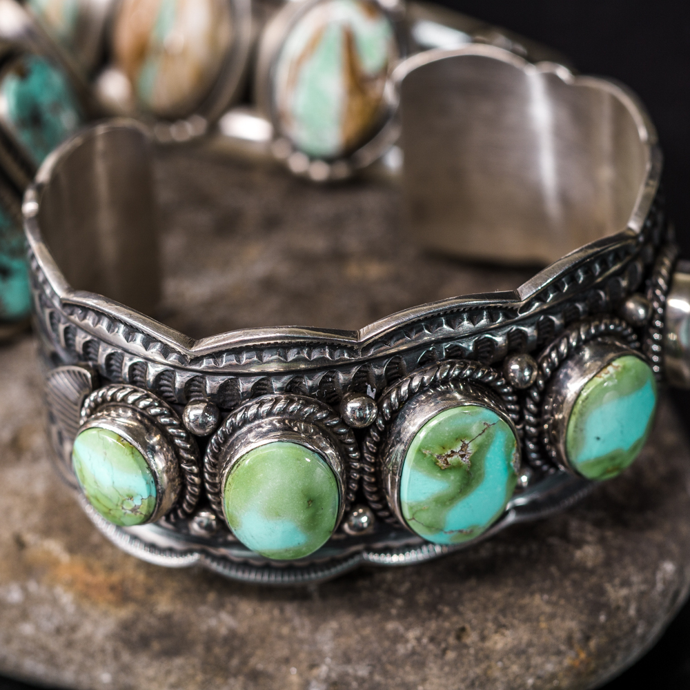 Sonoran Gold Turquoise Bracelet by Andy Cadman JE200110