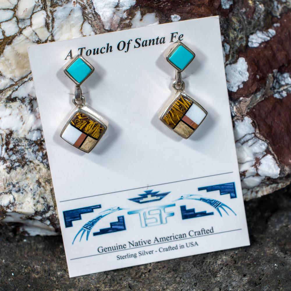 Touch of Santa Fe Multi-Stone Earrings JE200113
