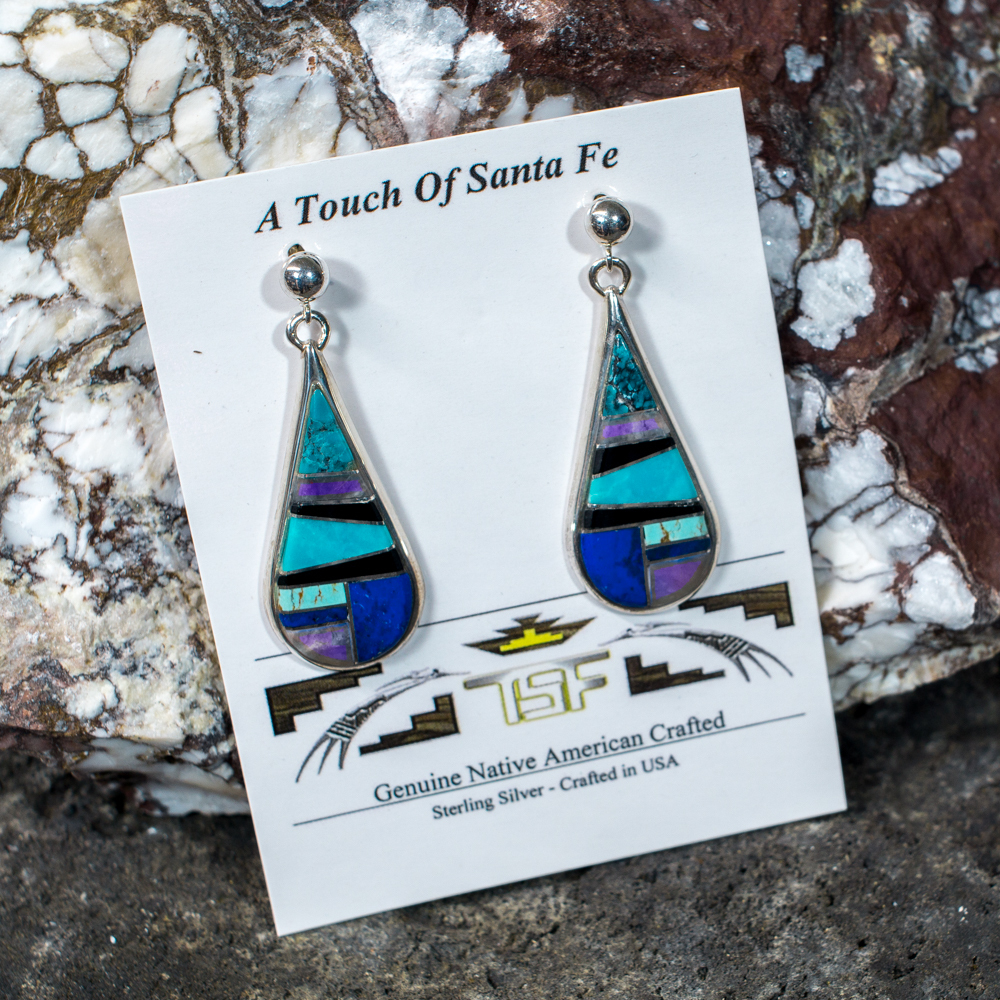 Touch of Santa Fe Multi-Stone Earrings JE200117