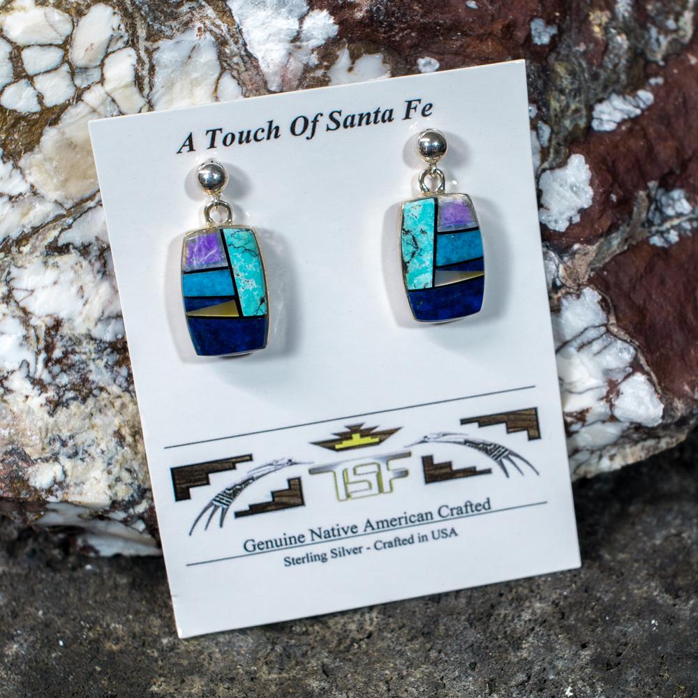 Touch of Santa Fe Multi-Stone Earrings JE200115
