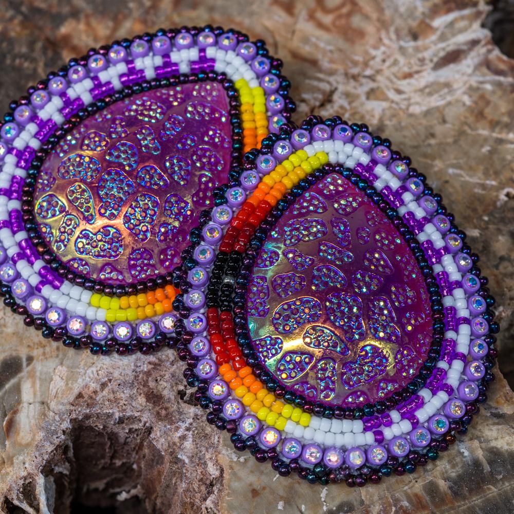Apache Beaded Teardrop Earrings JE200125