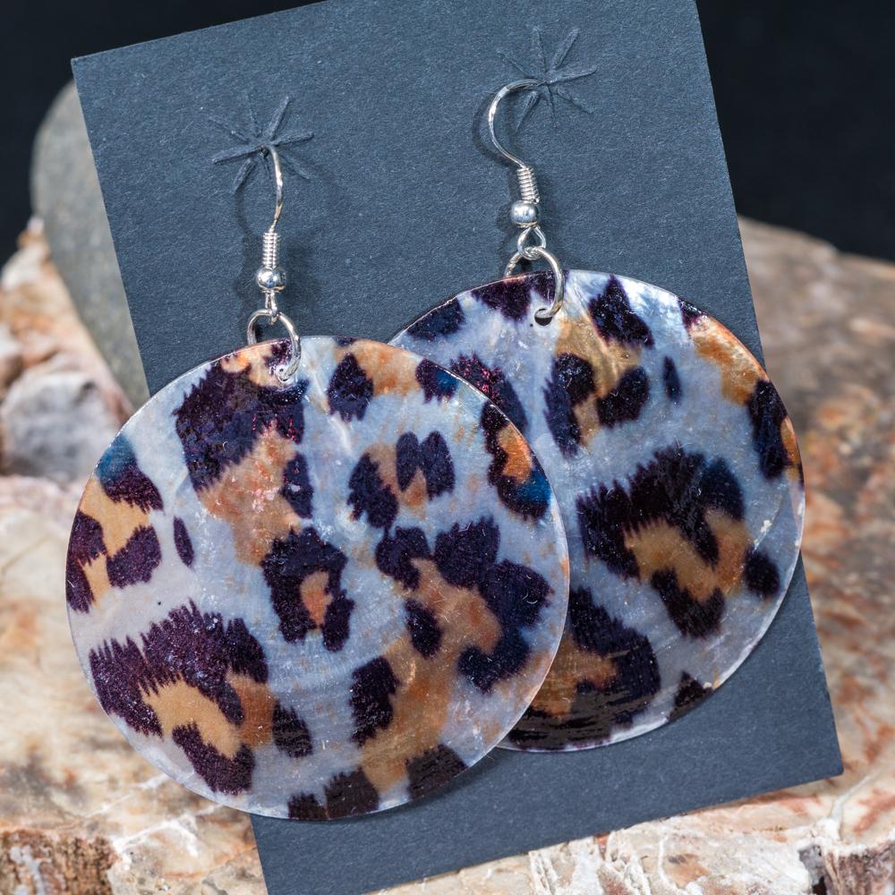 Leopard Print Shell Earrings JE200140