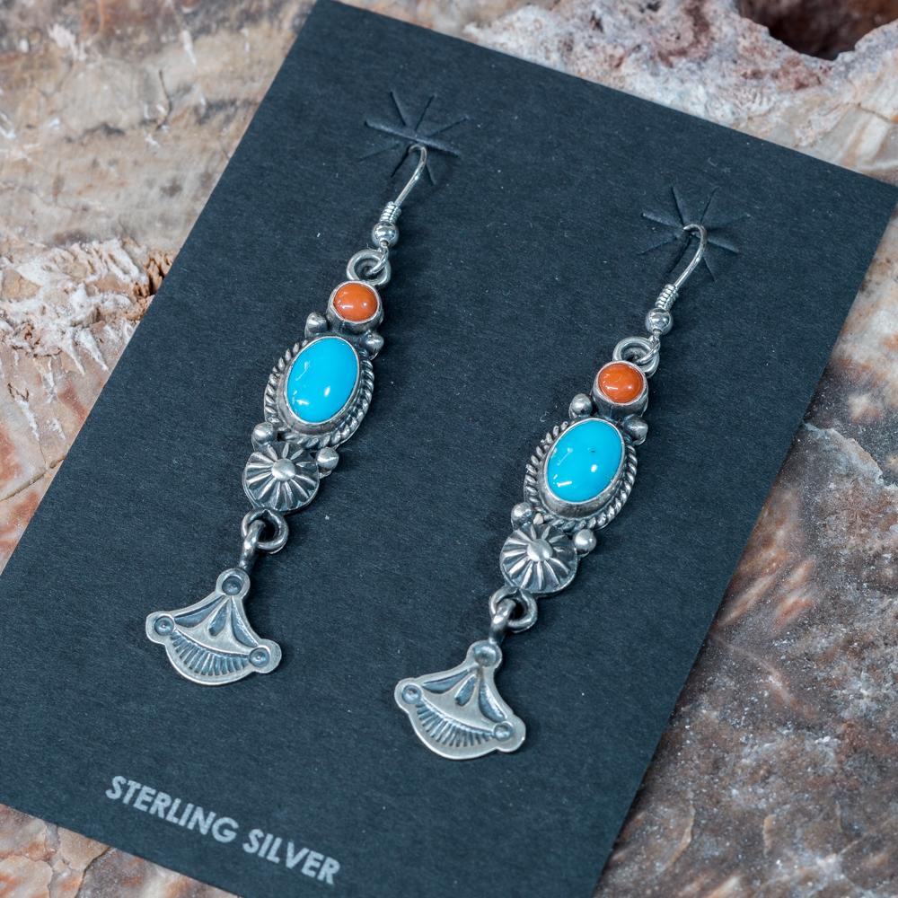Sleeping Beauty Coral Duo Earrings SB200060