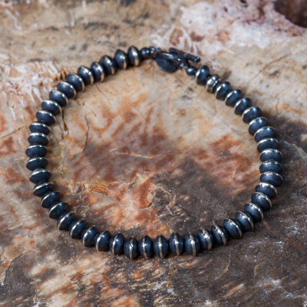 Sterling Silver Navajo Pearl Bracelet JE200167