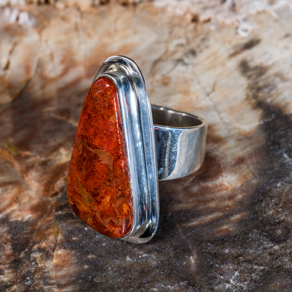 Tommy Jackson Apple Coral Ring