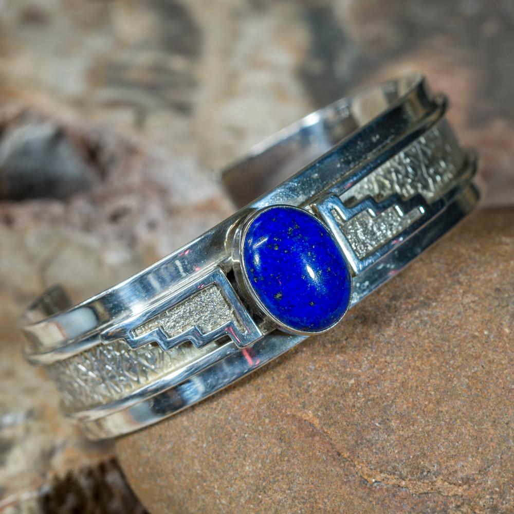 Lapis Sterling Silver Bracelet JE200182