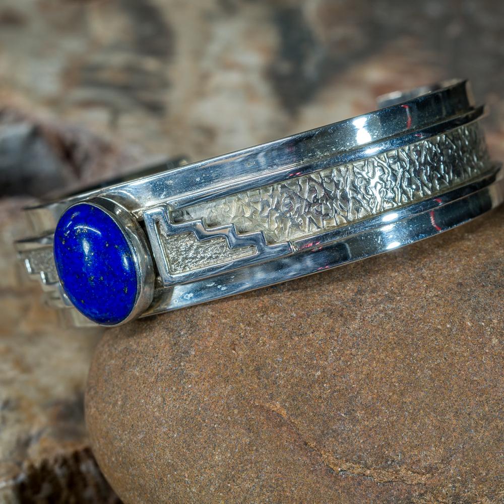 Lapis Sterling Silver Bracelet