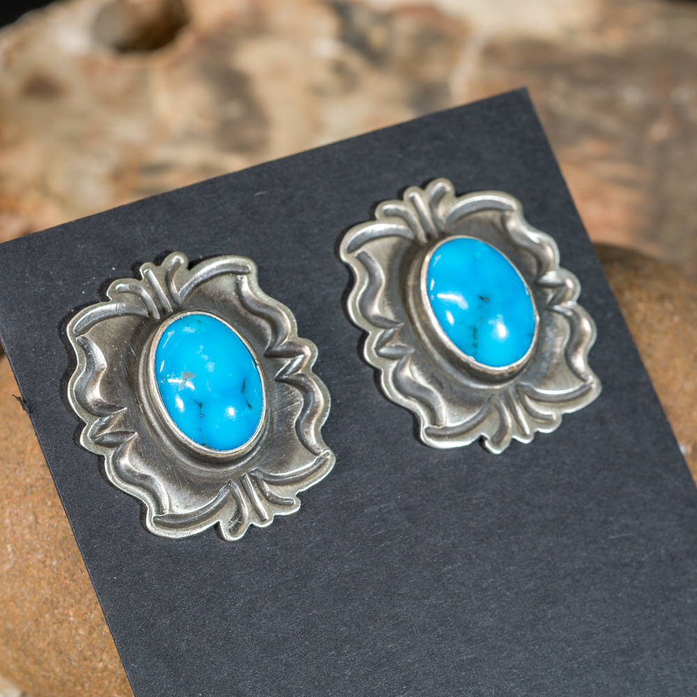 Tommy Jackson Kingman Turquoise Earrings JE200187