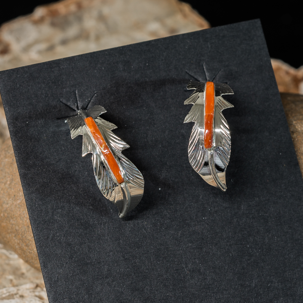 Coral Feather Earrings JE200195