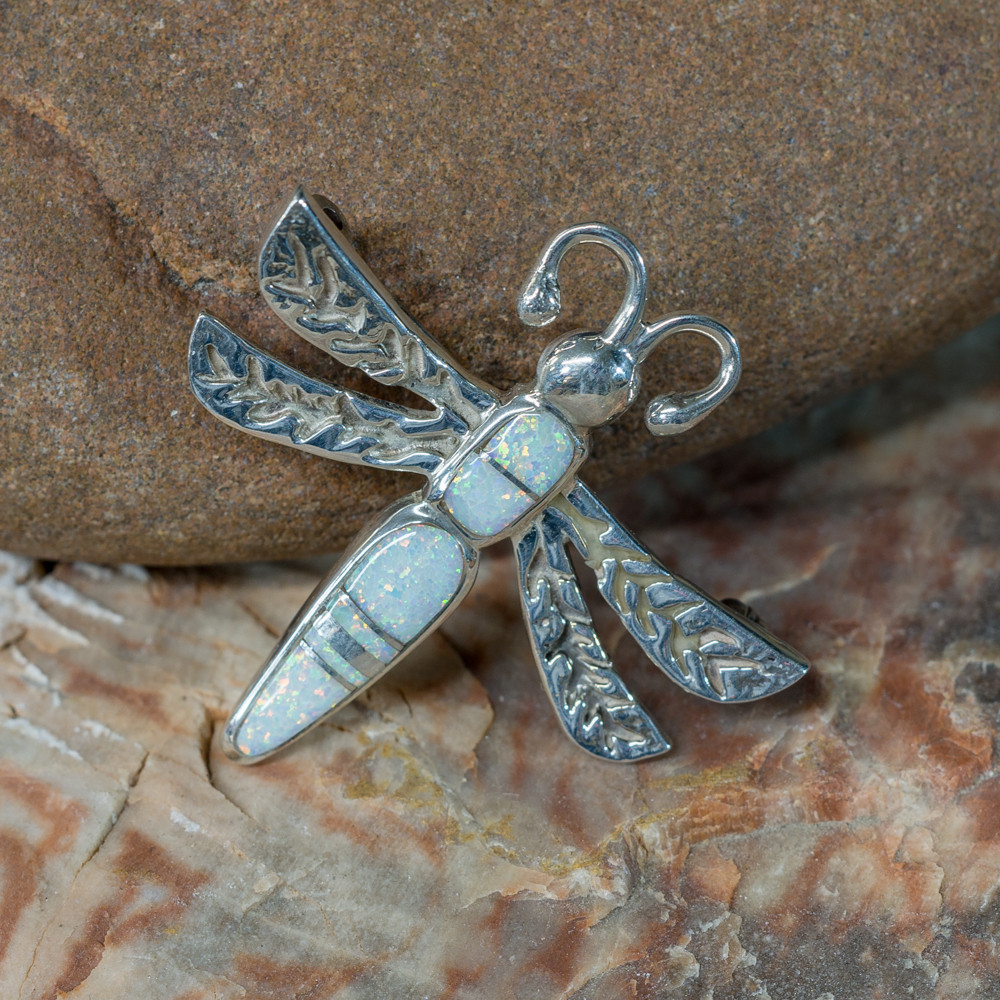 Opal Dragonfly Pin & Pendant JE200198