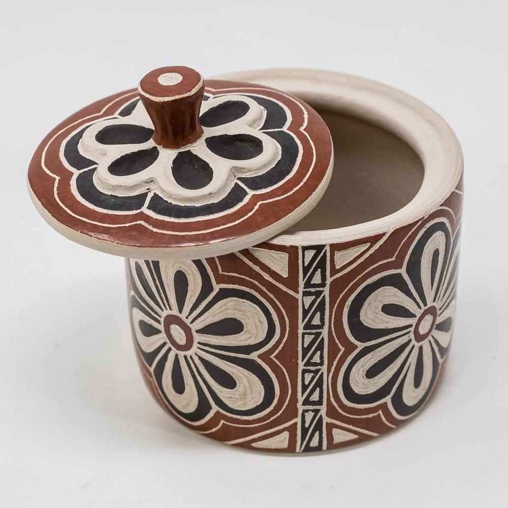 Mata Ortiz Pottery: Black Blossom