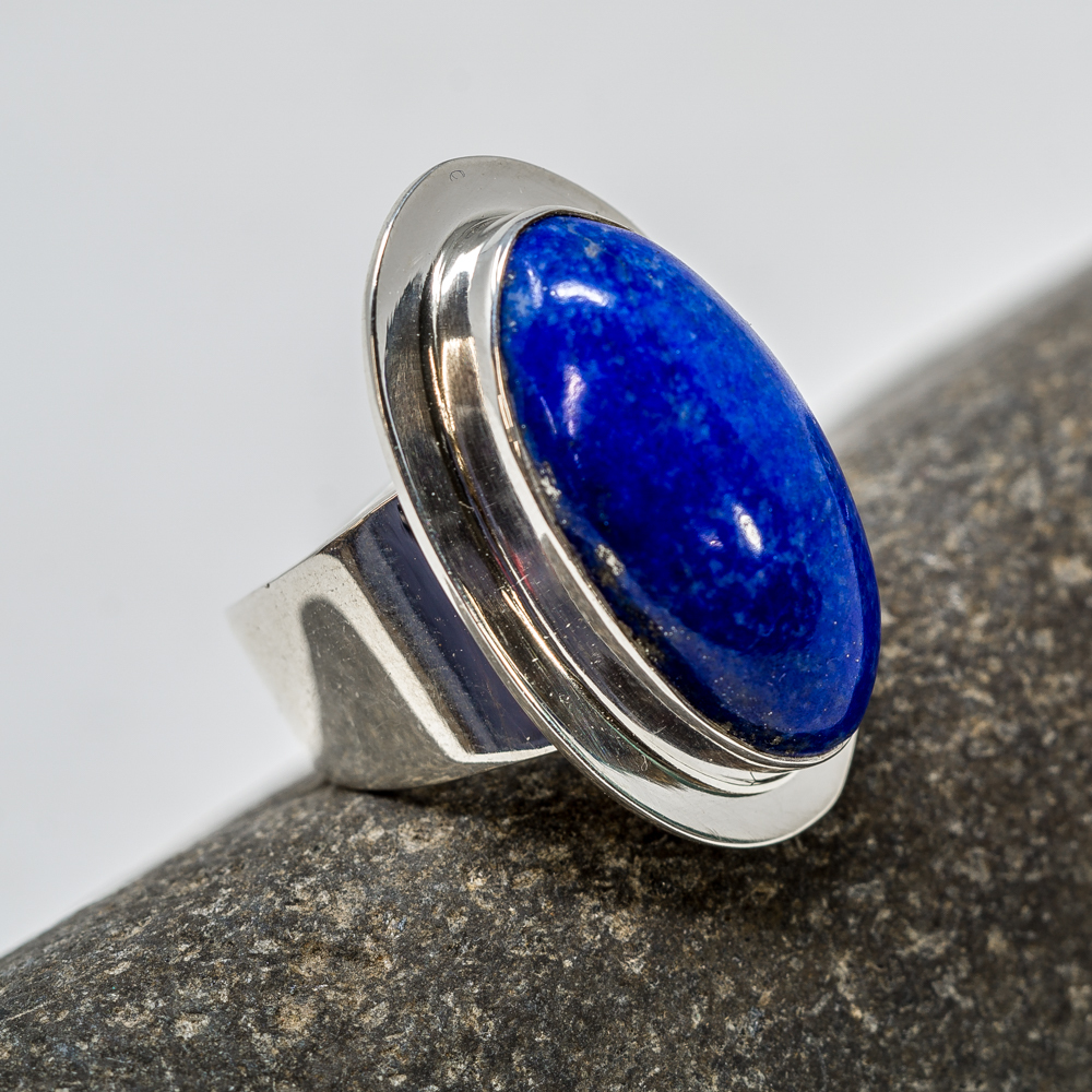Lapis Sterling Silver Ring by Marie Jackson JE200210