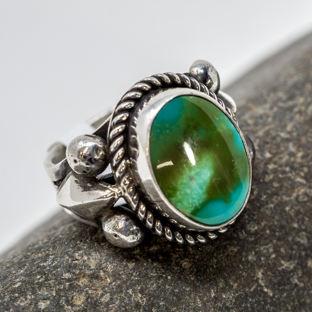 Royston Turquoise Sterling Silver Ring by Albert Jake JE200212