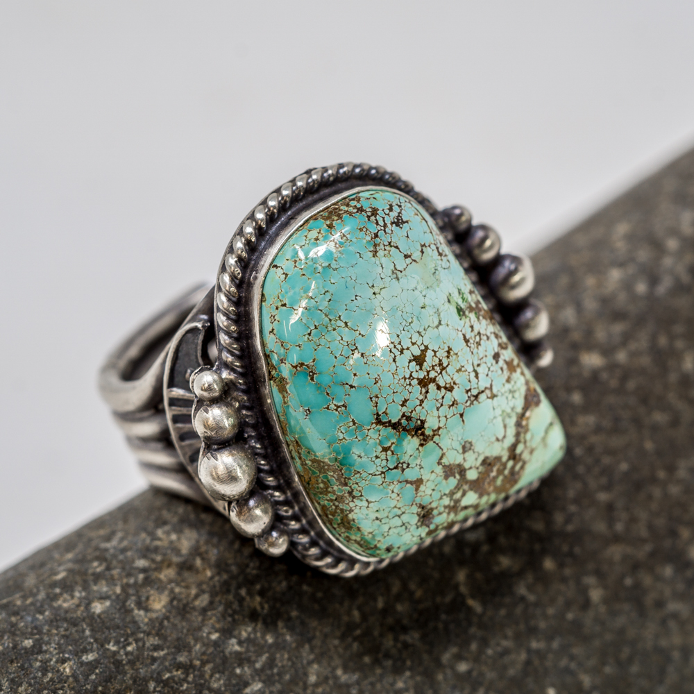 Royston Turquoise Sterling Silver Ring by Tommy Jackson JE200213