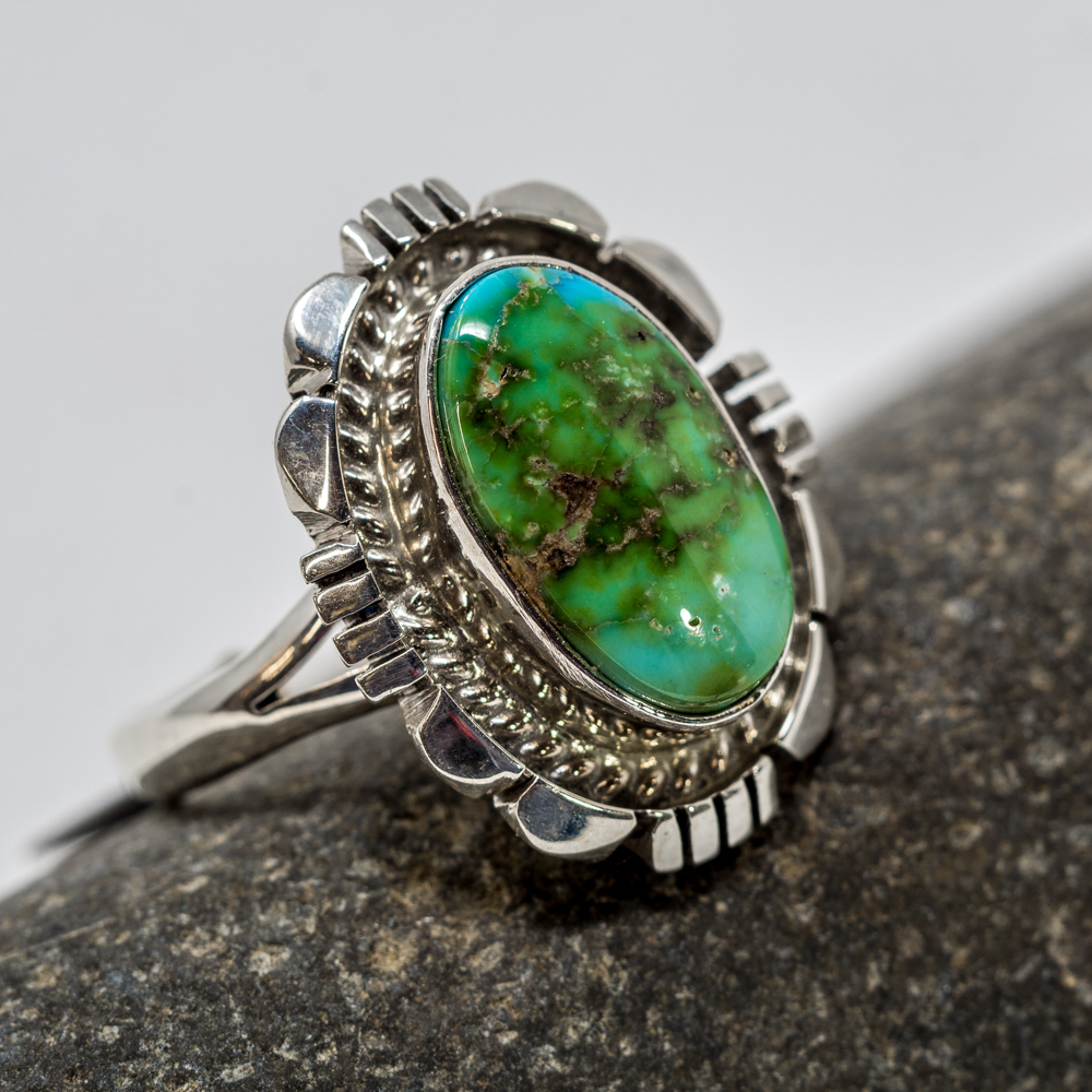 Golden Hills Turquoise Sterling Silver Ring JE200209