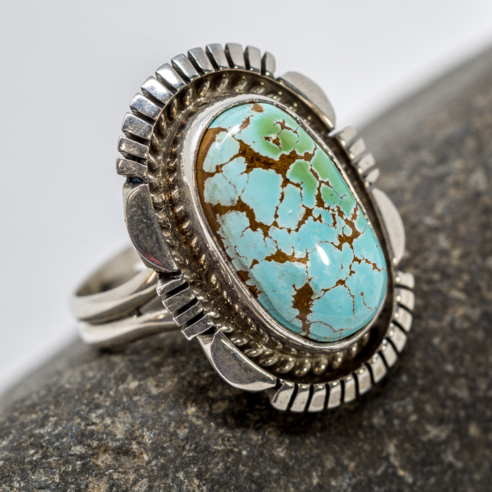 Royston Turquoise Sterling Silver Ring JE200211