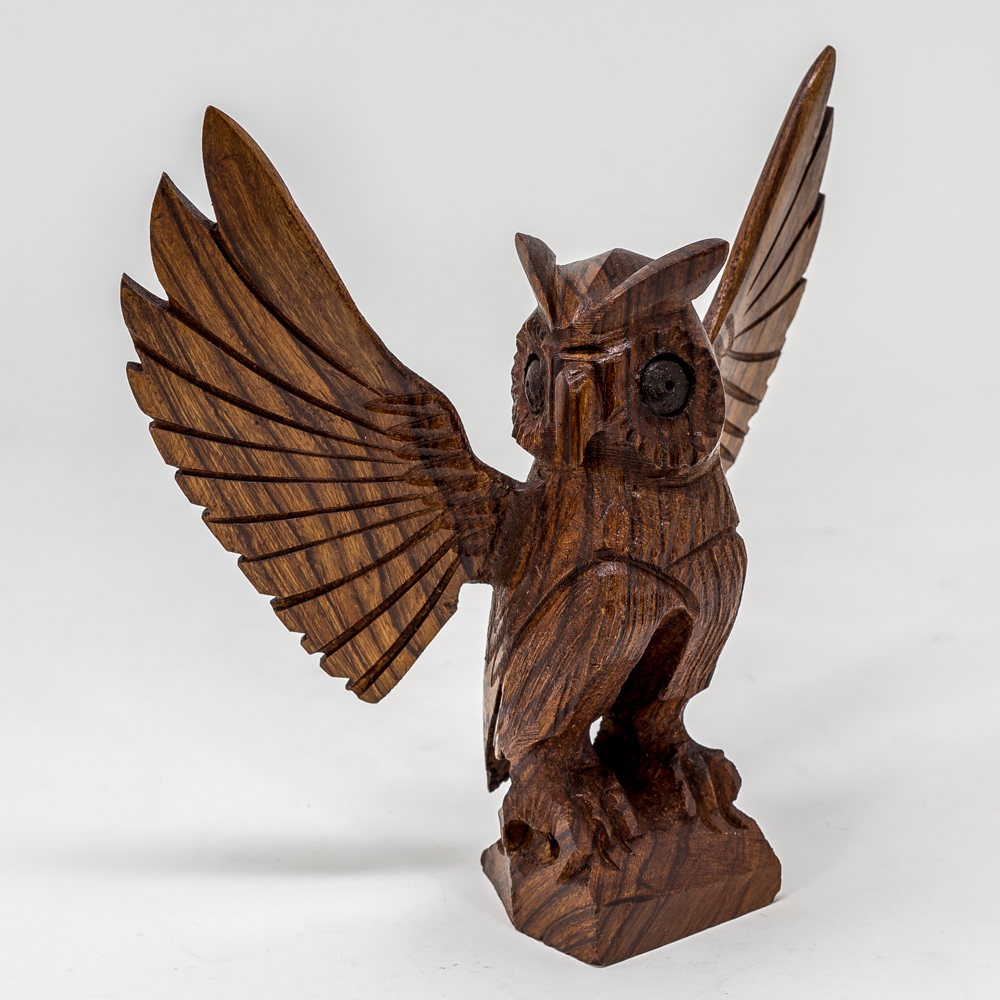 Ironwood Carved Owl SO200030