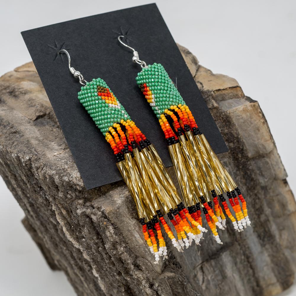 Apache Beaded Dangle Earrings JE200242