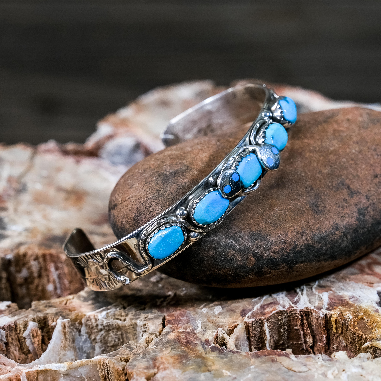 Effie Sleeping Beauty Turquoise Snake Bracelet SB200072