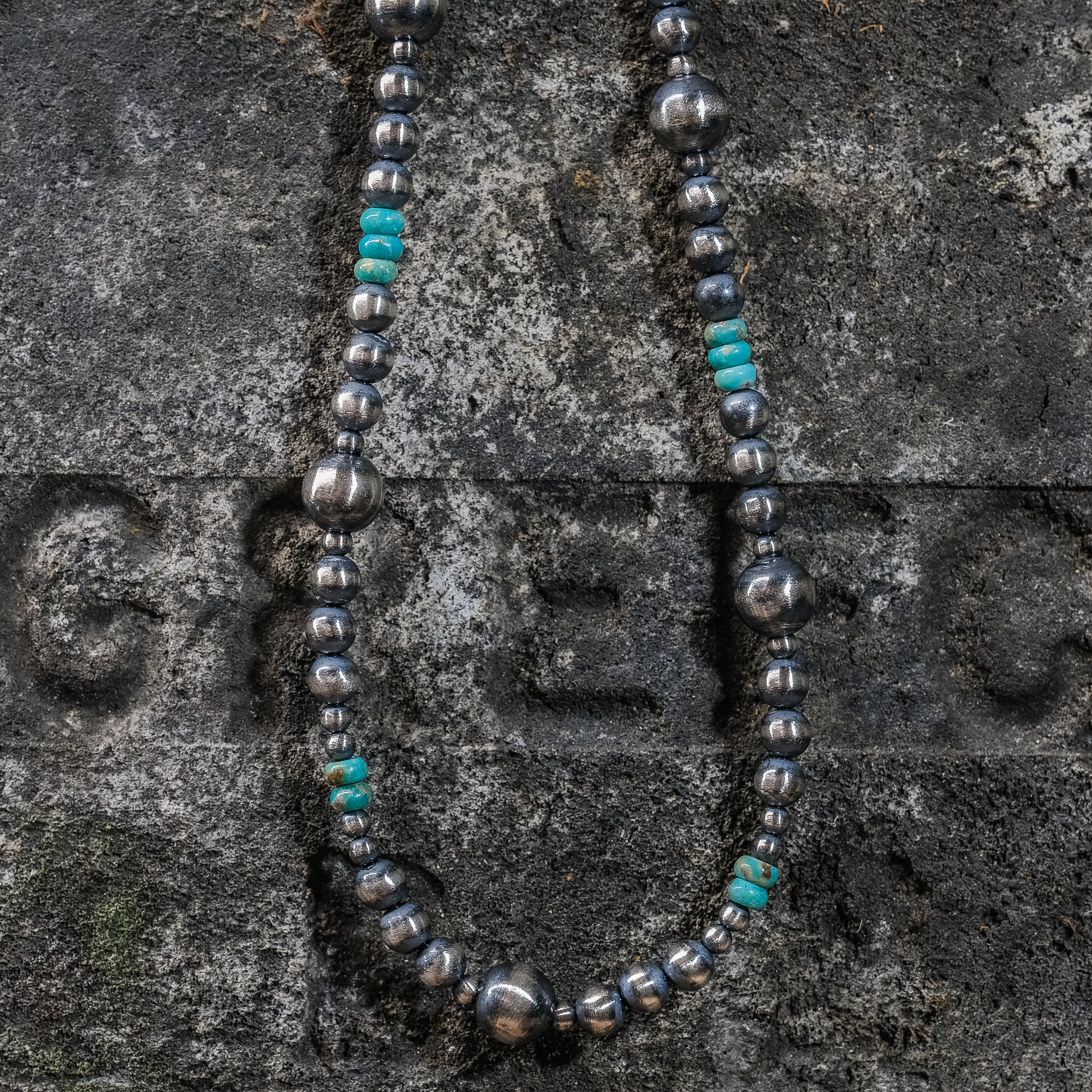Turquoise Navajo Pearl Necklace JE200249