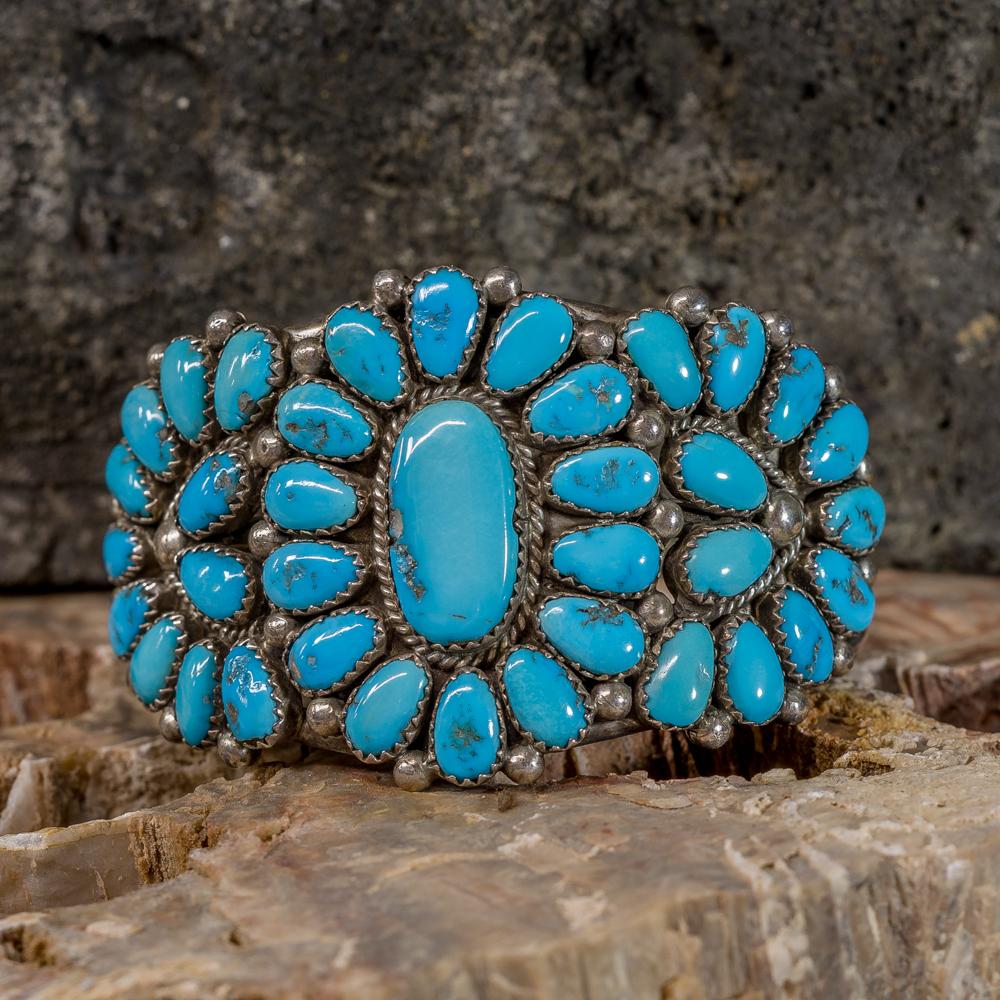 Kingman Turquoise Petit Point Bracelet by J&E Wilson JE200273