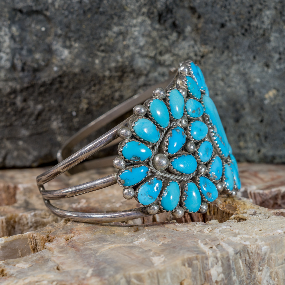 Kingman Turquoise Petit Point Bracelet by J&E Wilson
