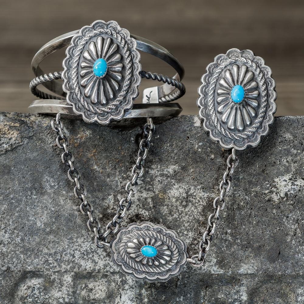 Sleeping Beauty Turquoise Chain Bracelet by Marie Jackson SB200082