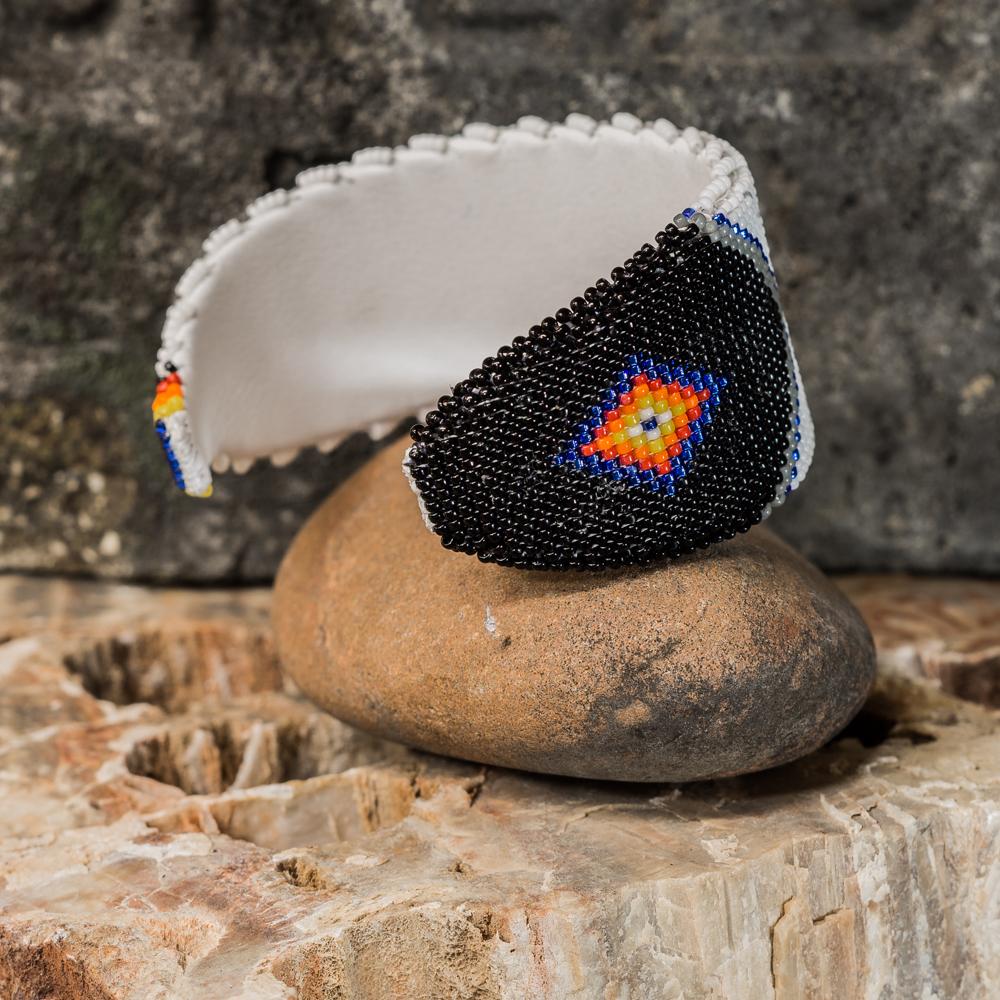 Apache Beaded Hummingbird Bracelet