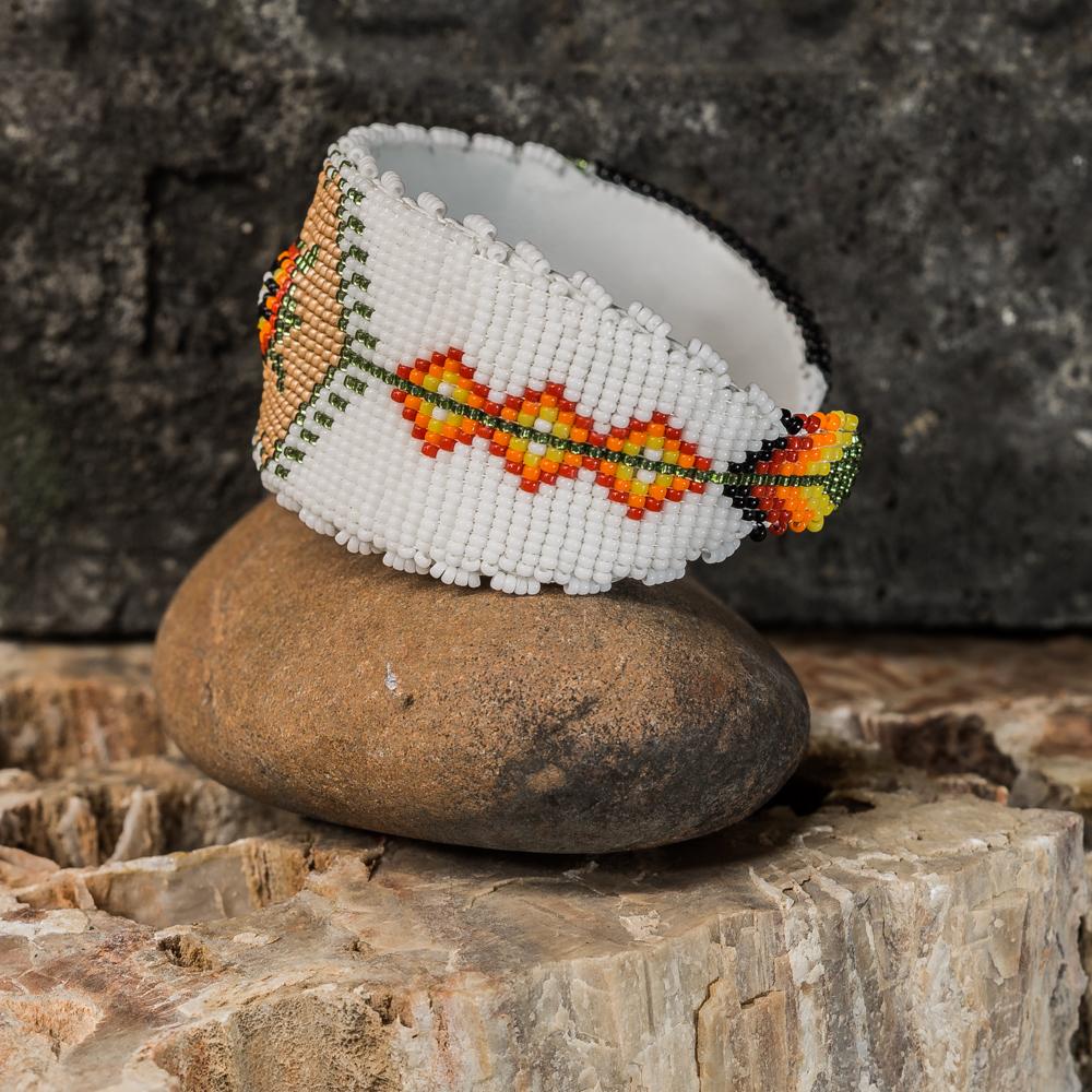 Apache Beaded Turtle Bracelet