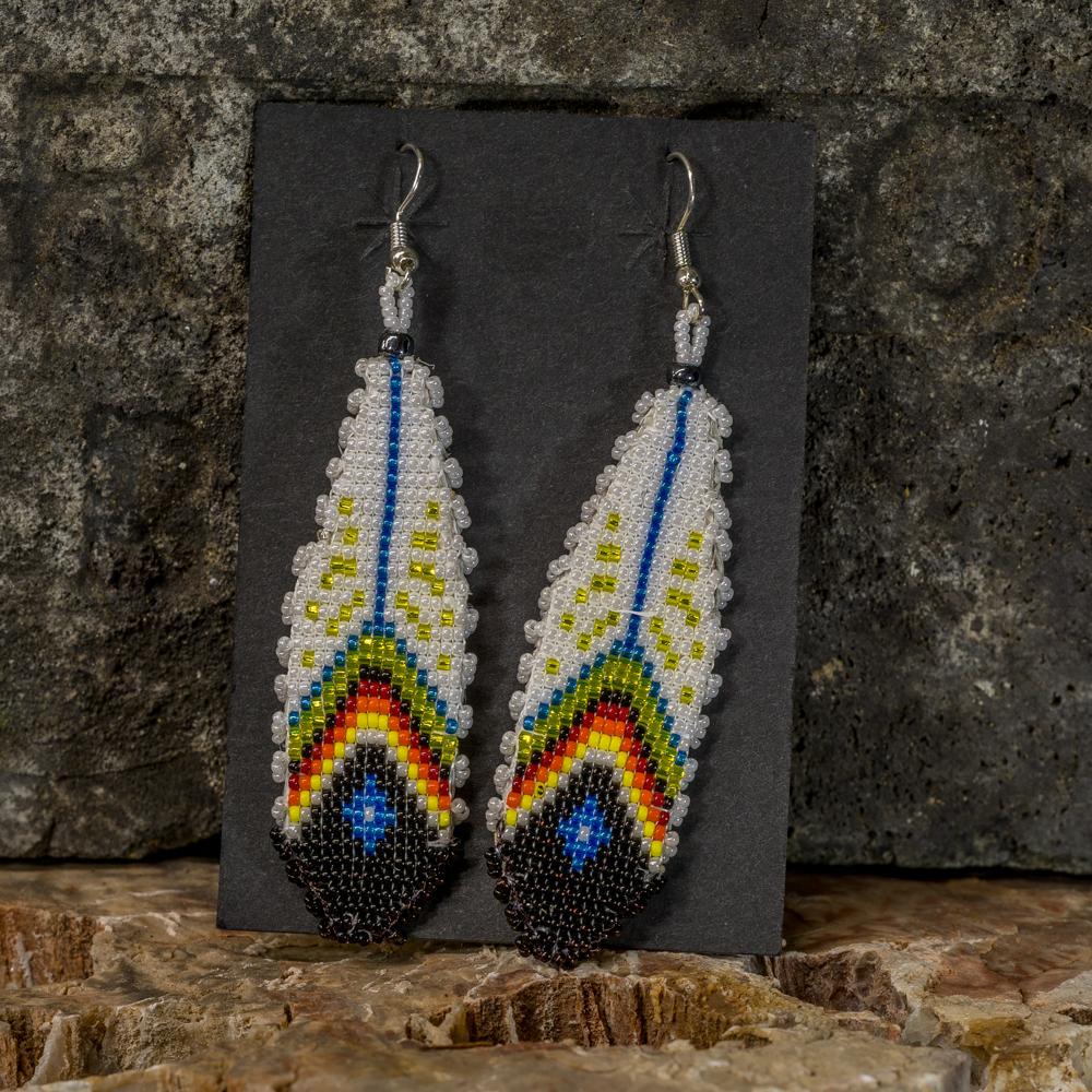 Apache Beaded Feather Earrings JE200294