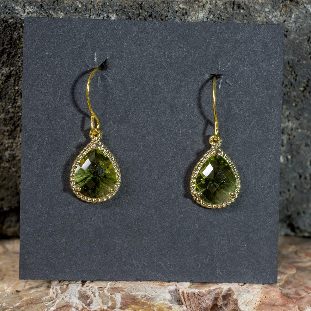 Peridot Drop Earrings with 14K Gold JE200309