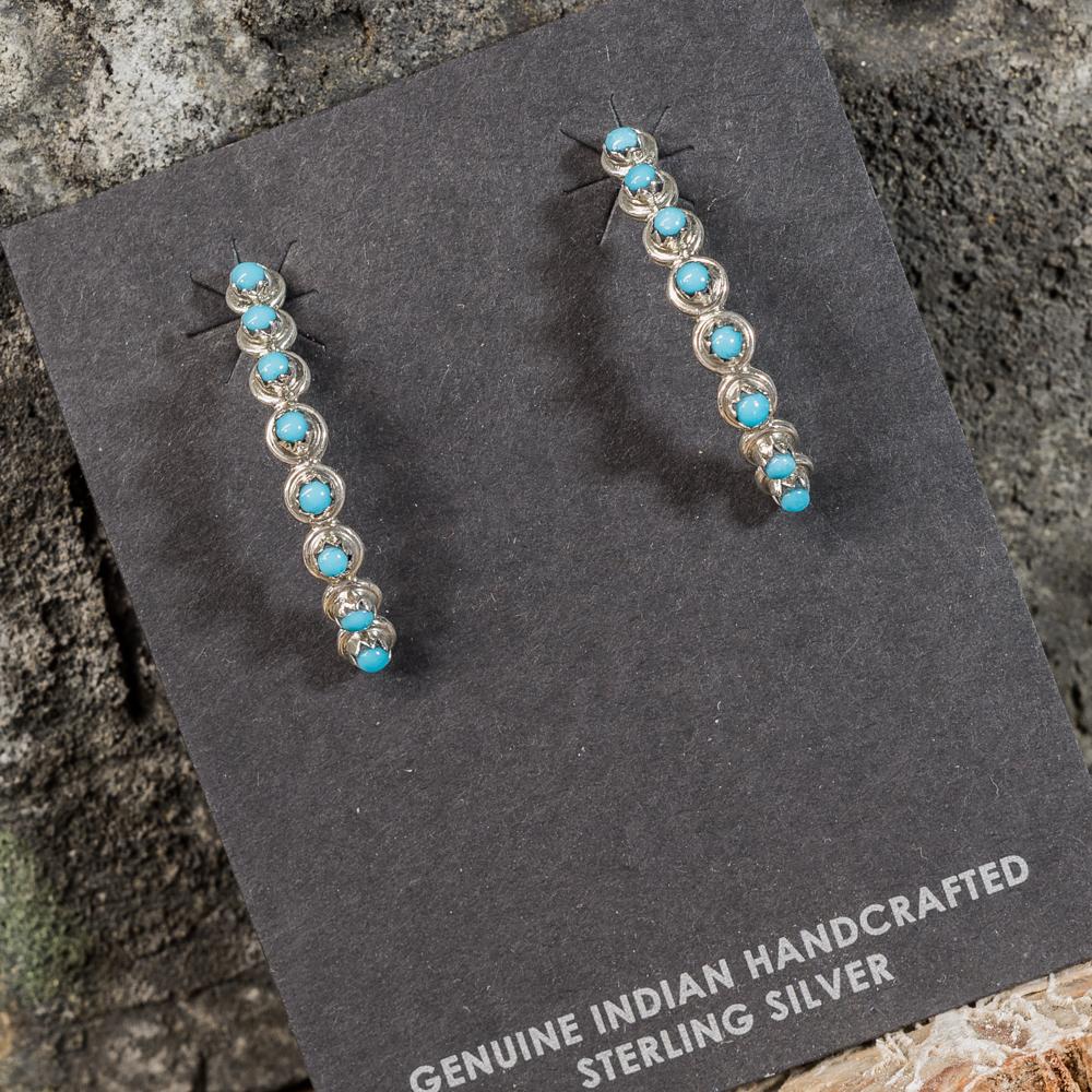 Sleeping Beauty Turquoise Petit Point Earrings SB200099