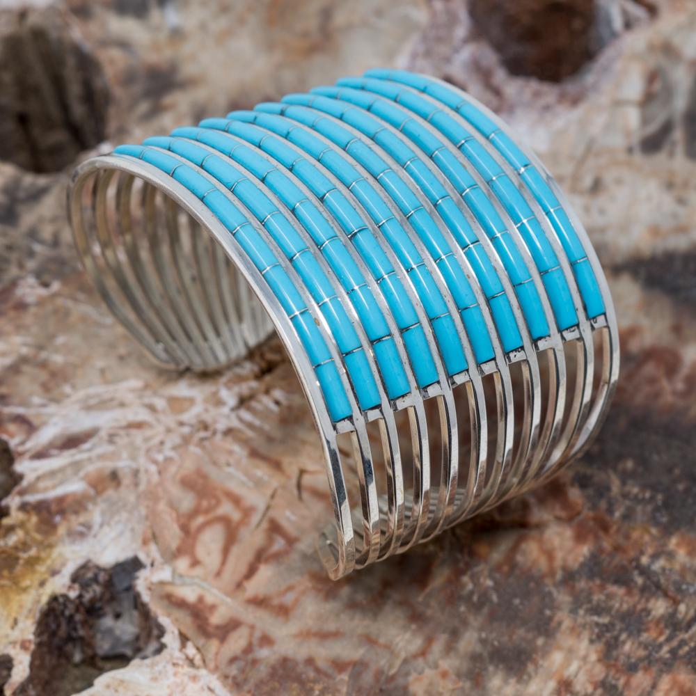Sleeping Beauty Turquoise Cuff Bracelet by Anson Wallace
