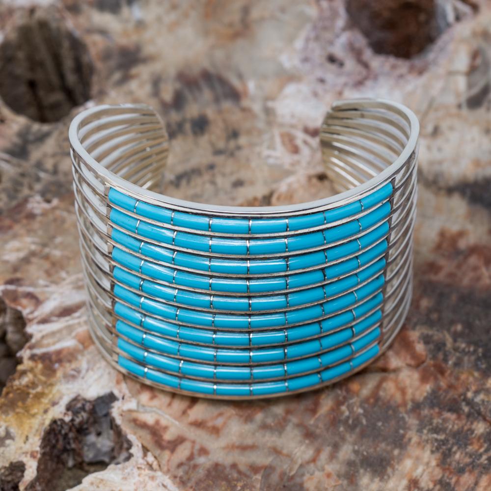 Sleeping Beauty Turquoise Cuff Bracelet by Anson Wallace SB200107