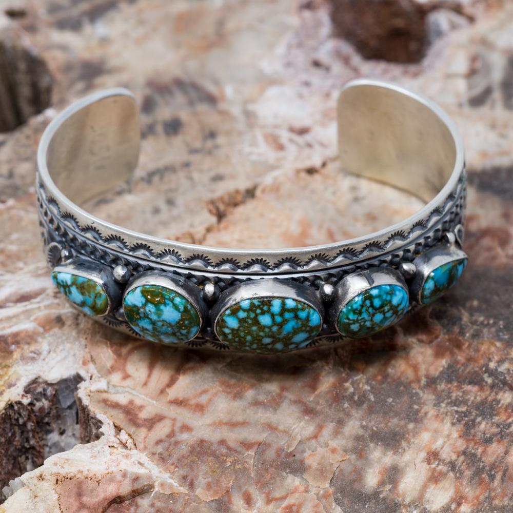 Kingman Turquoise Bracelet by June Defauito