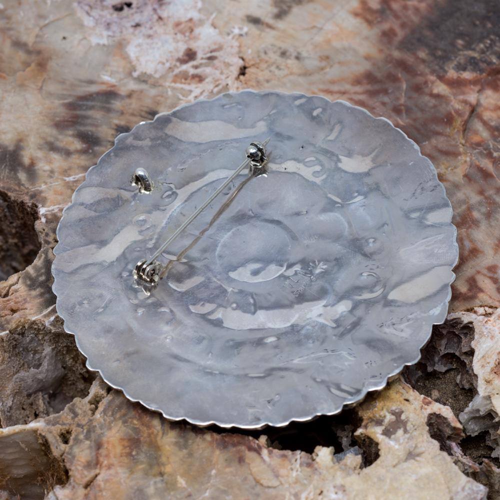 Kingman Turquoise Petit Point Pin & Pendant