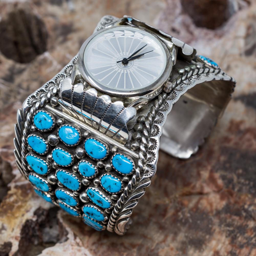 Sleeping Beauty Turquoise Cuff Watch