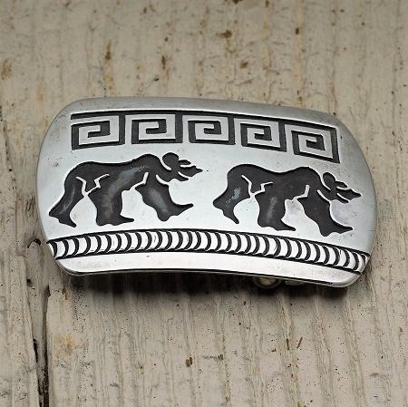 Sterling Silver Bear Belt Buckle by Anderson Koinva JE160253