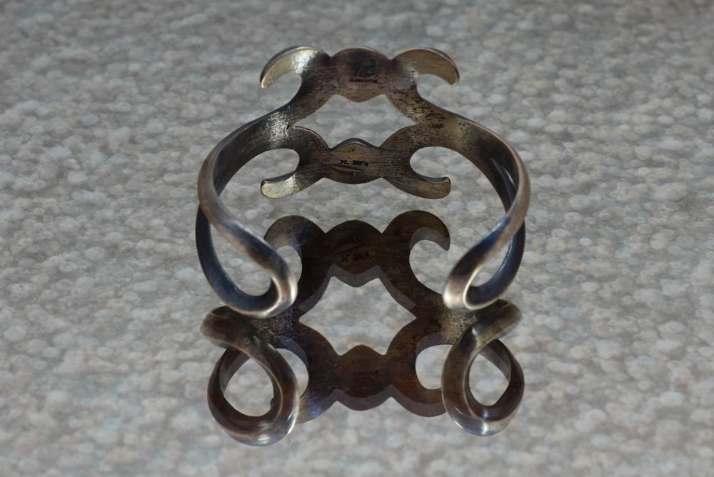 Sterling Silver Scroll Design Bracelet