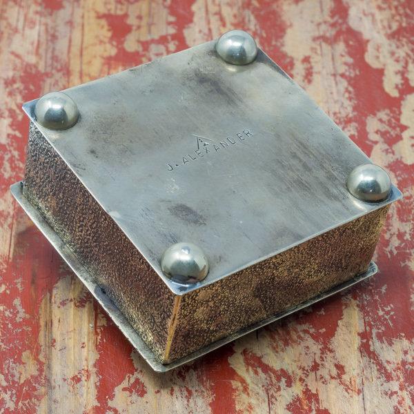 J. Alexander Box in German Silver