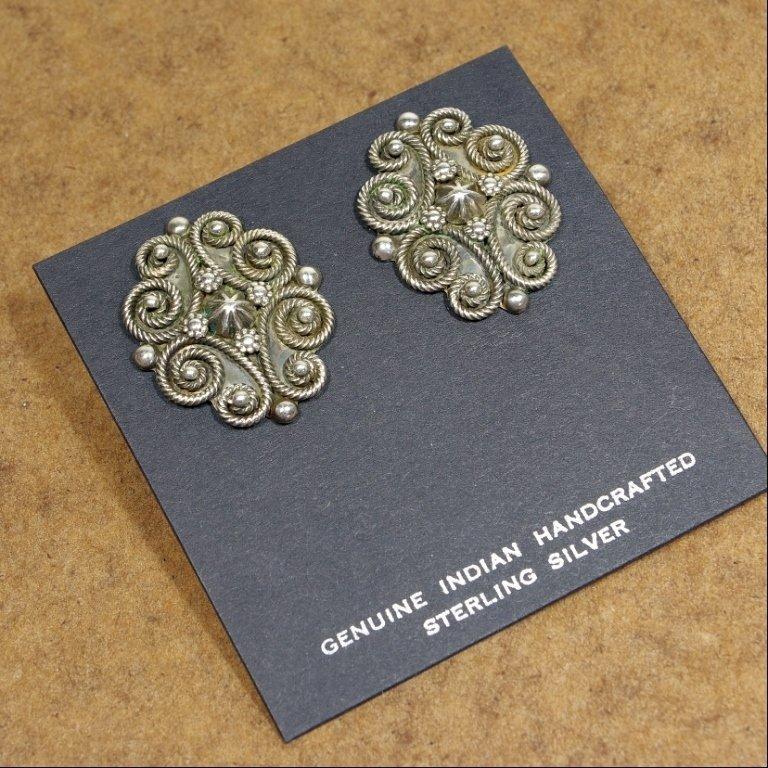 Sterling Silver Earrings by John Begay Jr. JE170167