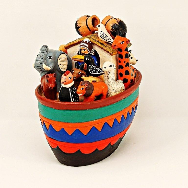 Peruvian Ceramic Noah's Ark - Large SO170073