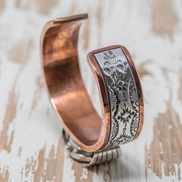 Women's Copper & Silver Watch by Sylvana Apache & Randy Secatero